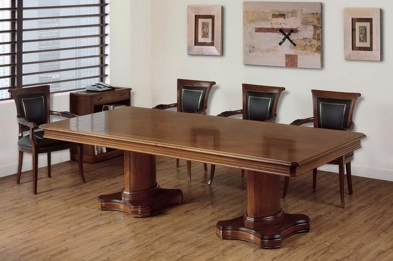 Mesas de juntas estilo clasico for Mesa reuniones diseno